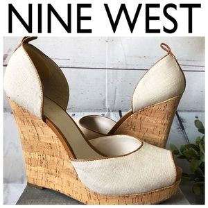 Nine West Open toe wedge platform sandals pumps